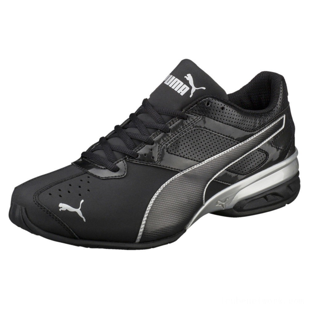 Puma Tazon 6 FM Men's Sneakers Black-puma silver Outlet Sale