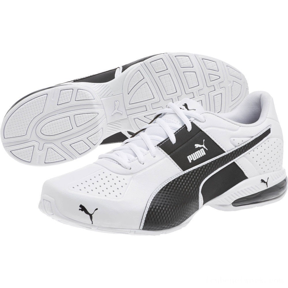 Puma Cell Surin 2 FM Men's Running Shoes White- Black Outlet Sale