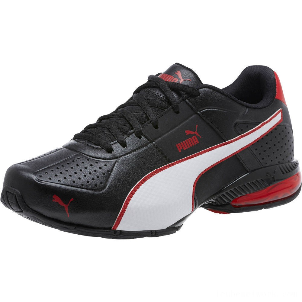 Puma Cell Surin 2 FM Men's Running Shoes Black-White-Ribbon Red Outlet Sale