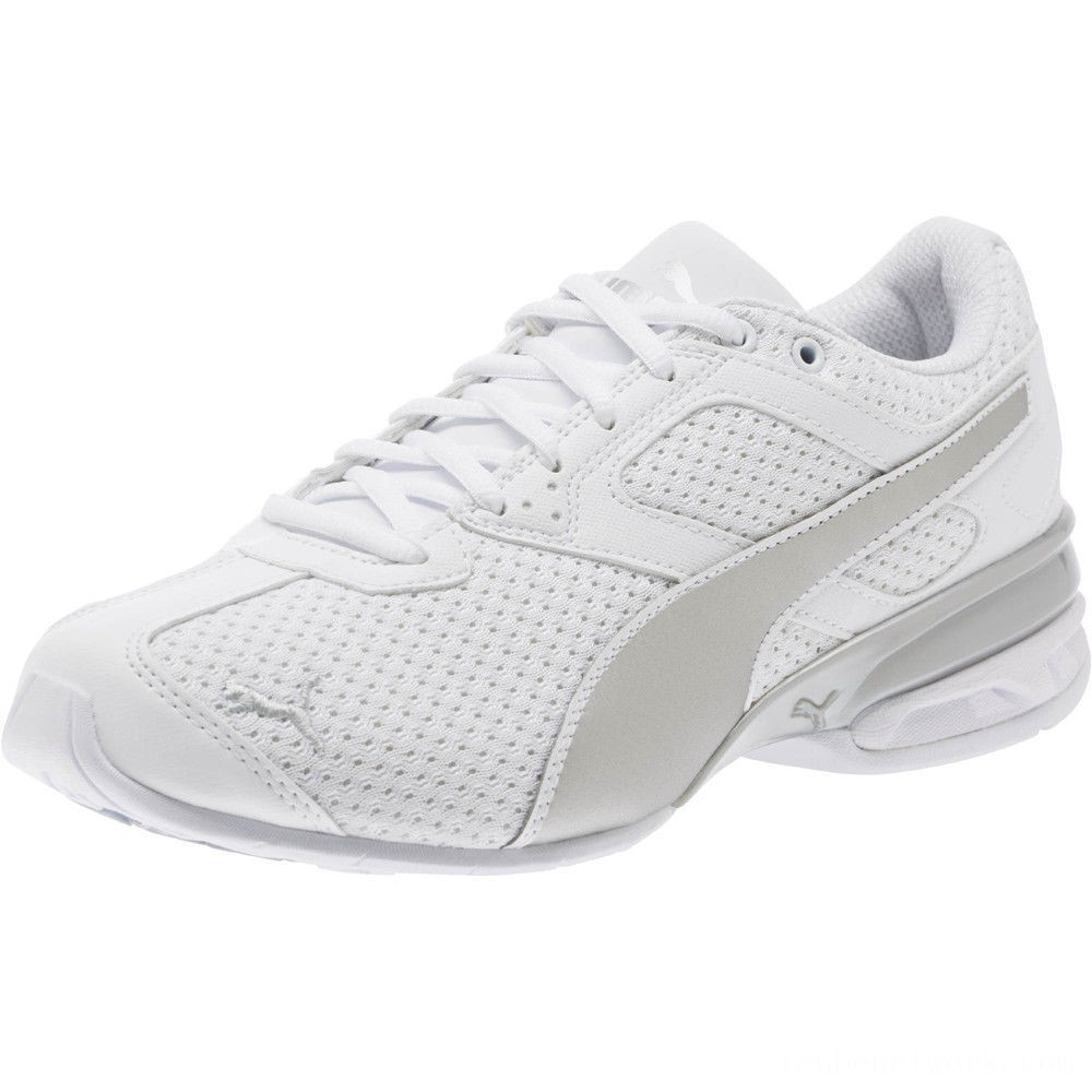 Black Friday 2020 Puma Tazon 6 Knit Women's Sneakers White- Silver Outlet Sale