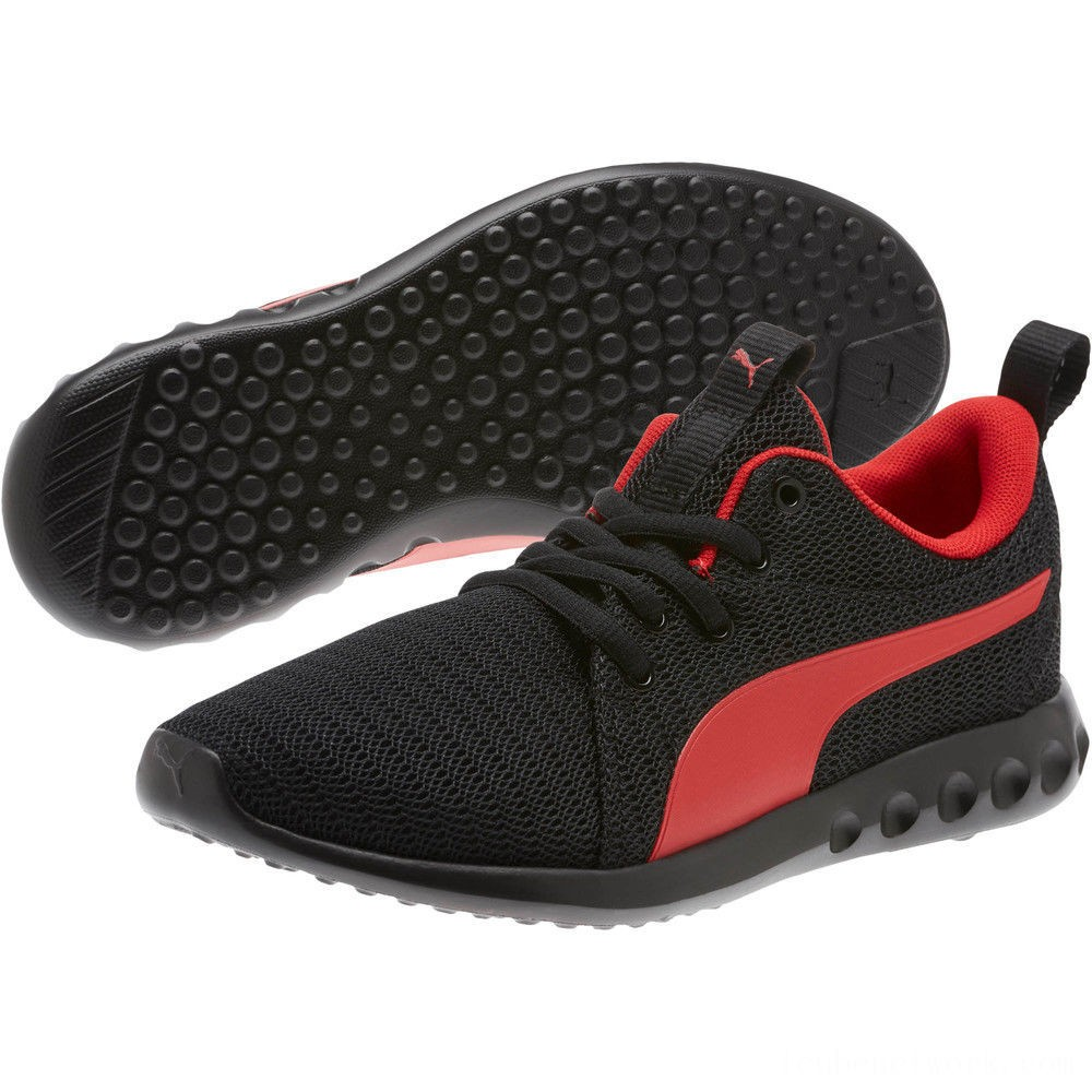 Puma Carson 2 Sneakers JR Black-High Risk Red Outlet Sale