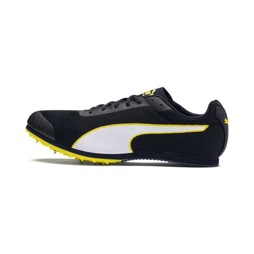 Black Friday 2020 Puma evoSPEED Star 6 Men's Track SpikesPeacoat- Black-Yellow Outlet Sale