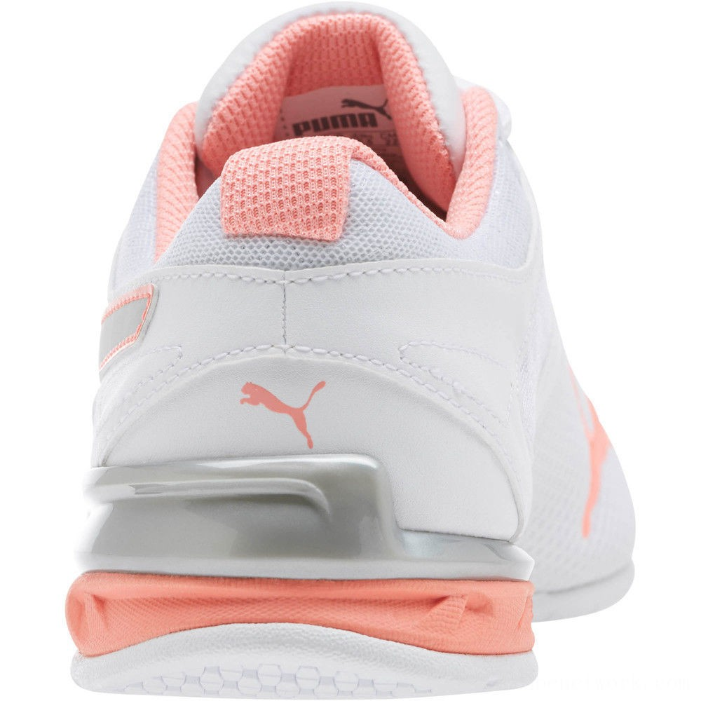 Black Friday 2020 Puma Tazon 6 Metallic Women's Sneakers White-Silver-Fluo Peach Outlet Sale