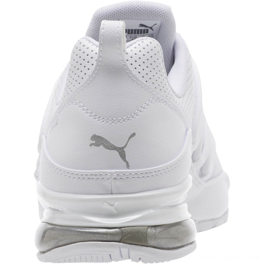 Puma Cell Pro Limit Men's Running Shoes White- Silver Outlet Sale
