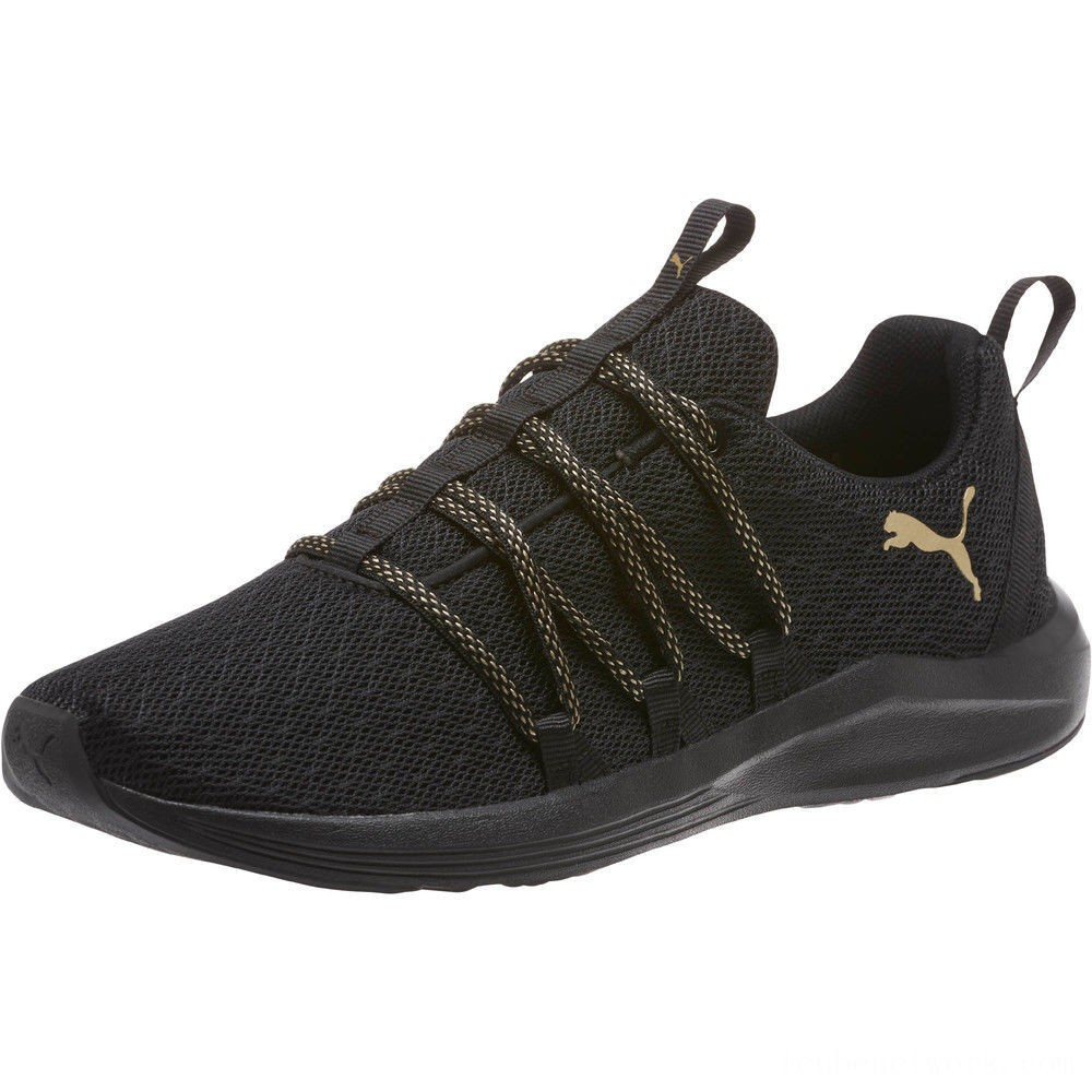 Black Friday 2020 Puma Prowl Alt Knit Mesh Women's Running Shoes Black-Metallic Gold Outlet Sale