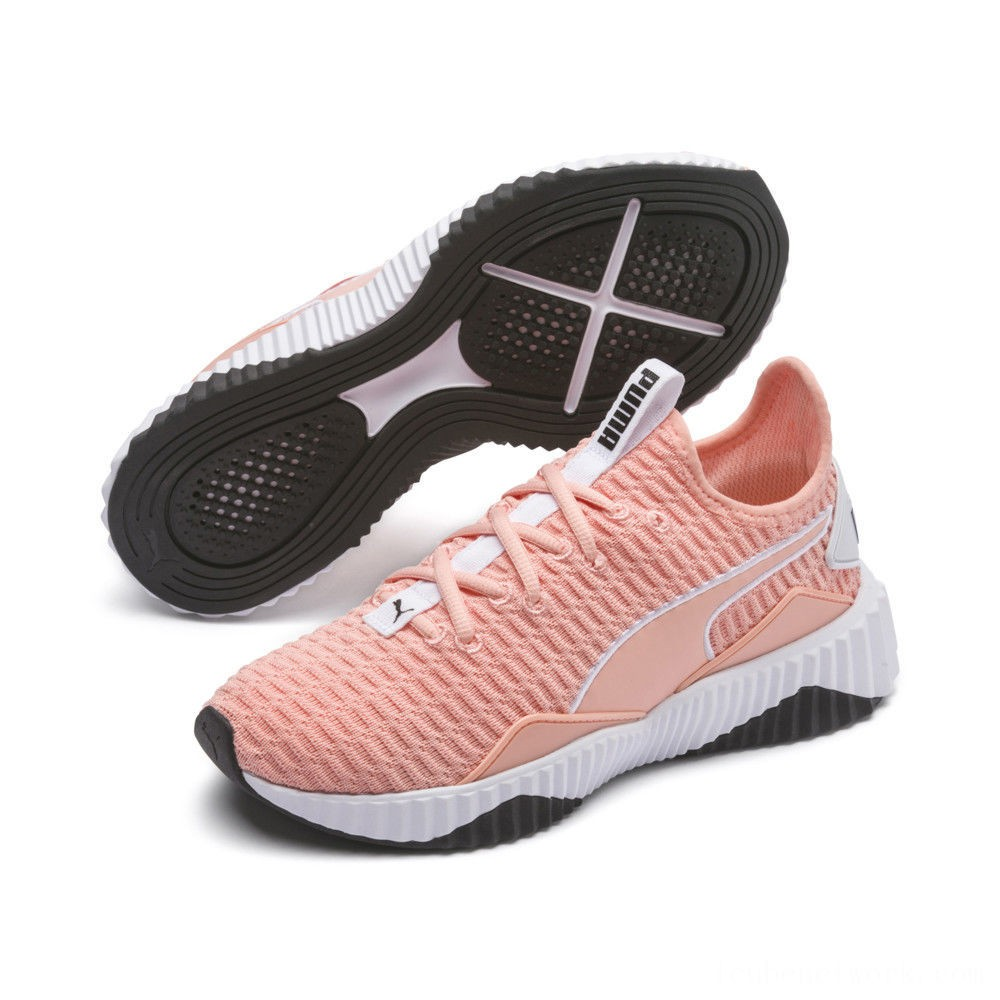 Puma Defy Women's Sneakers Peach Bud- White Outlet Sale