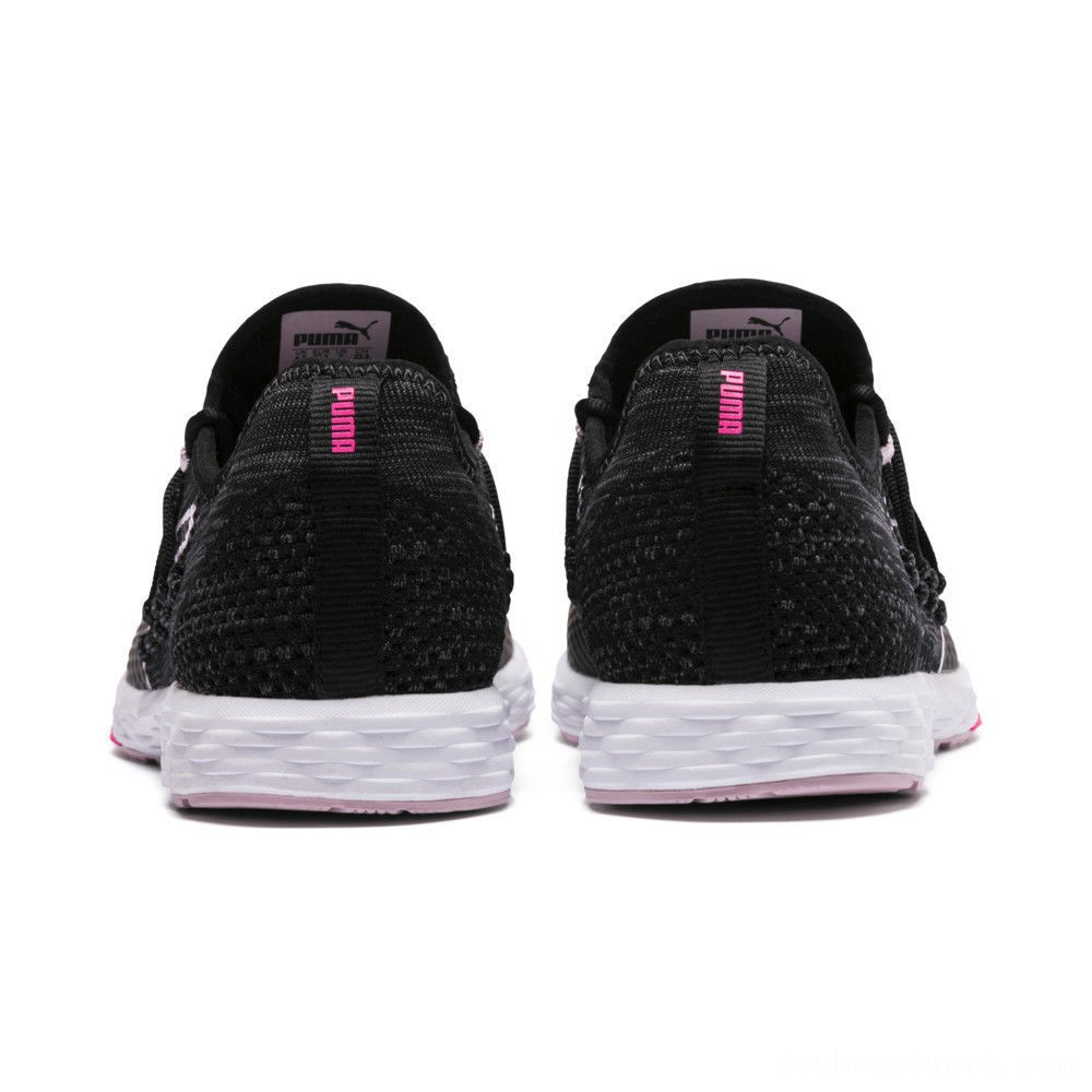 Puma SPEED RACER Women's Running Shoes Black-WinsomeOrchid-KPINK Outlet Sale