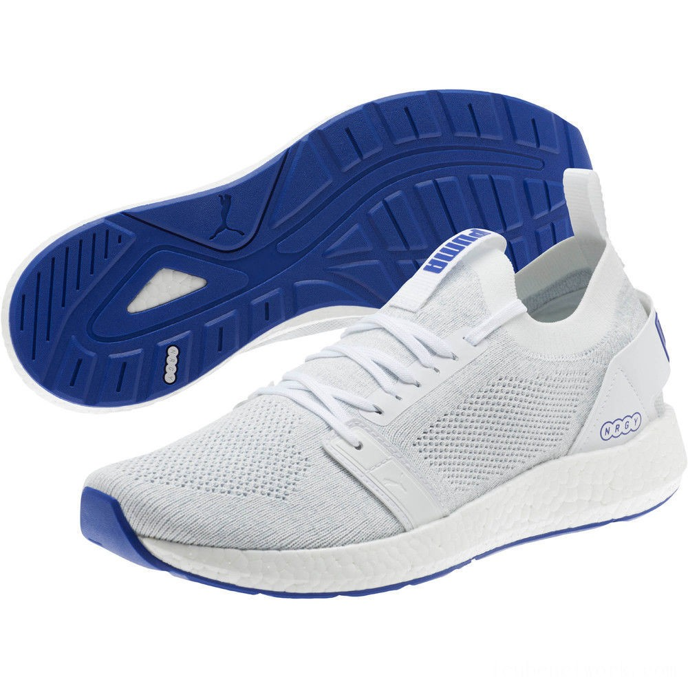 Puma NRGY Neko Engineer Knit Men's Running Shoes White-Surf The Web Outlet Sale