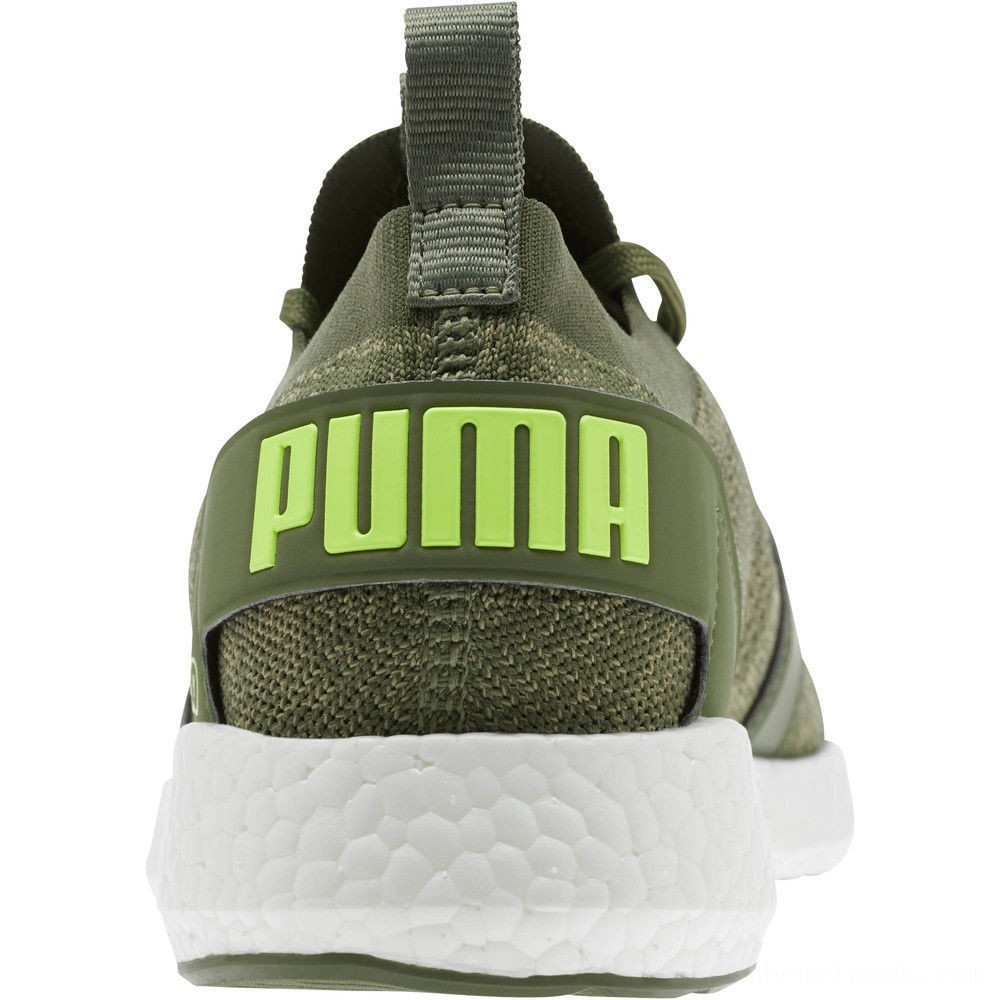 Puma NRGY Neko Engineer Knit Men's Running Shoes Olivine-Elm-Fizzy Yellow Outlet Sale
