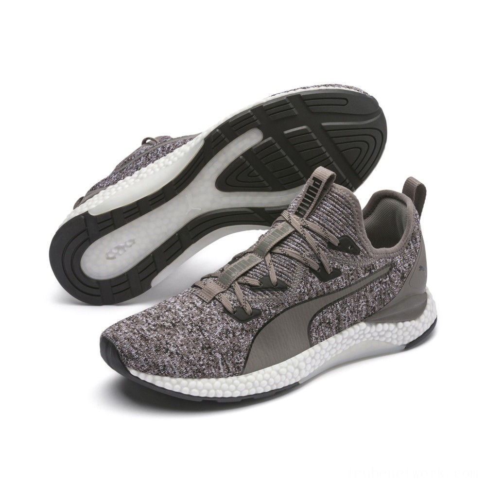 Puma HYBRID Runner Men's Running Shoes Charcoal Gray- White Outlet Sale