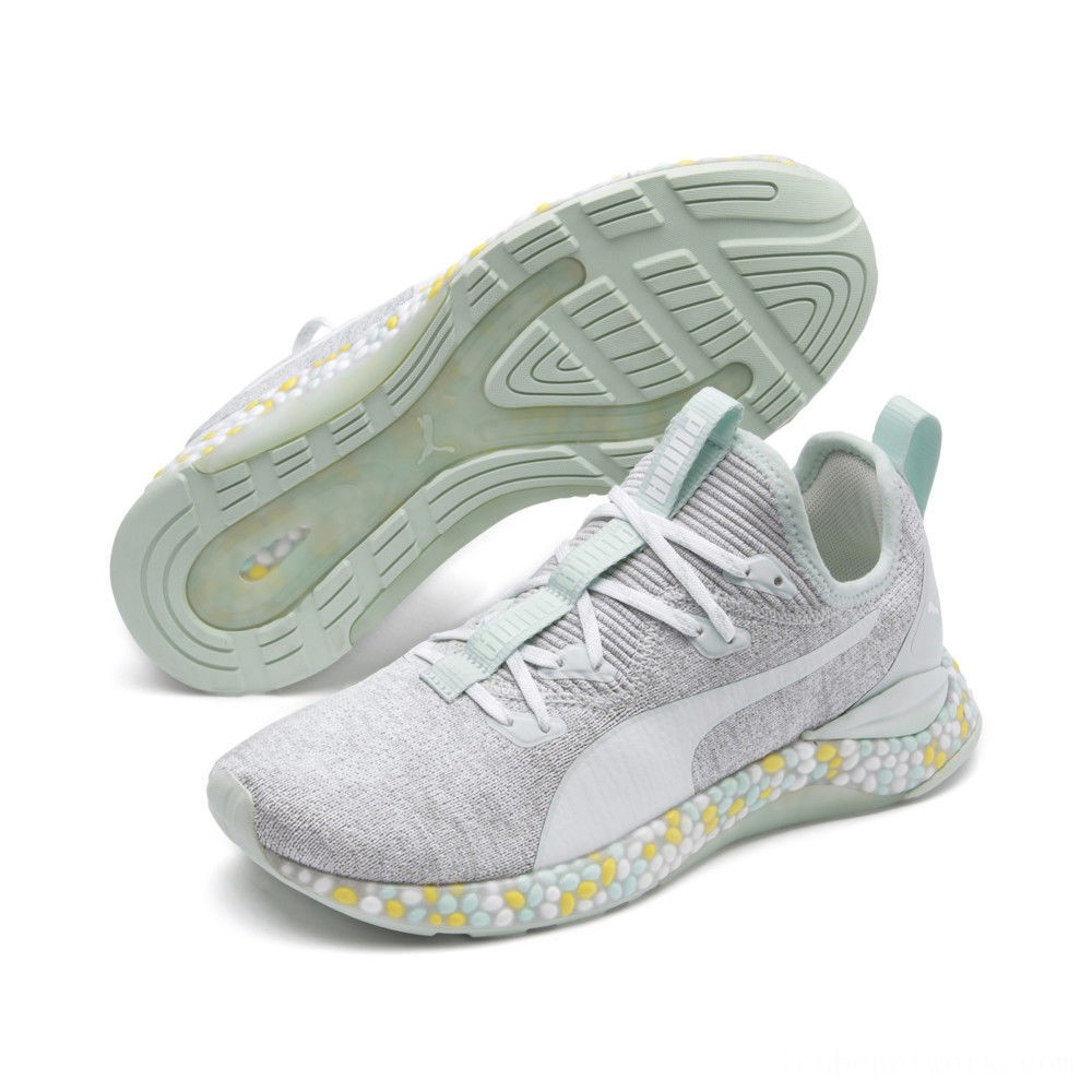 Puma HYBRID Runner Women's Running Shoes Fair Aqua-Glacier Gray Outlet Sale
