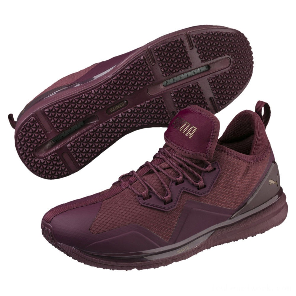 Black Friday 2020 Puma IGNITE Limitless Initiate Running Shoes Fig-Metallic Bronze Outlet Sale