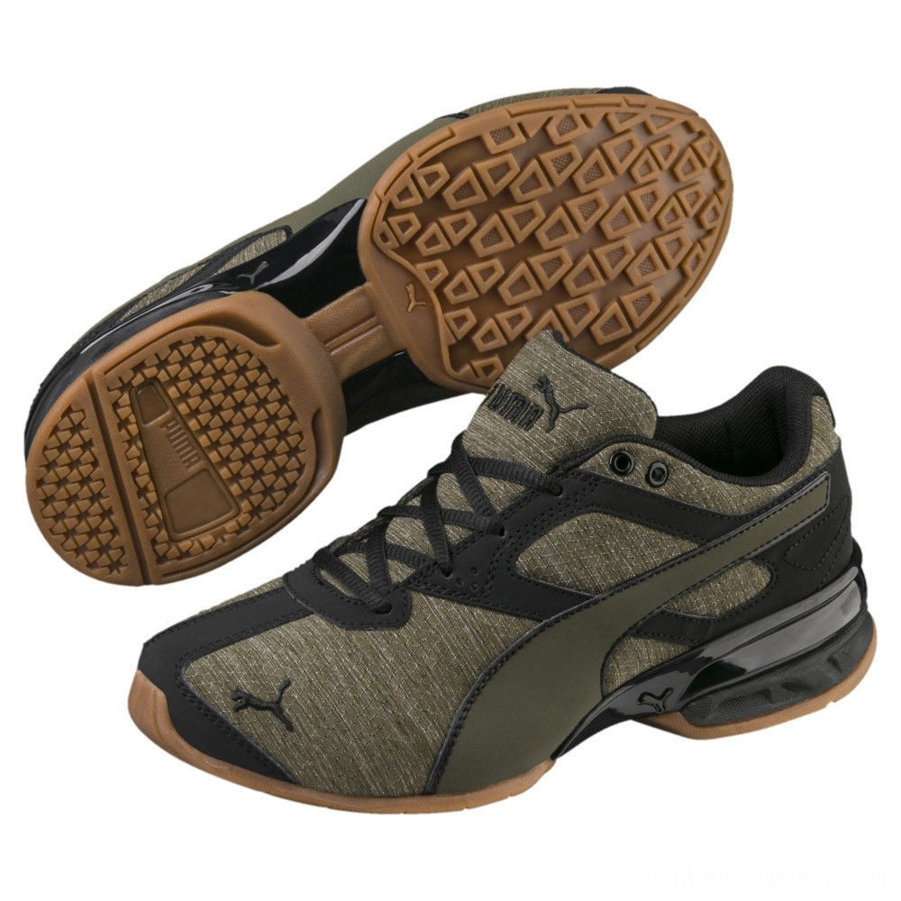 Puma Tazon 6 Heather Rip Sneakers JRForest Night- Black Outlet Sale