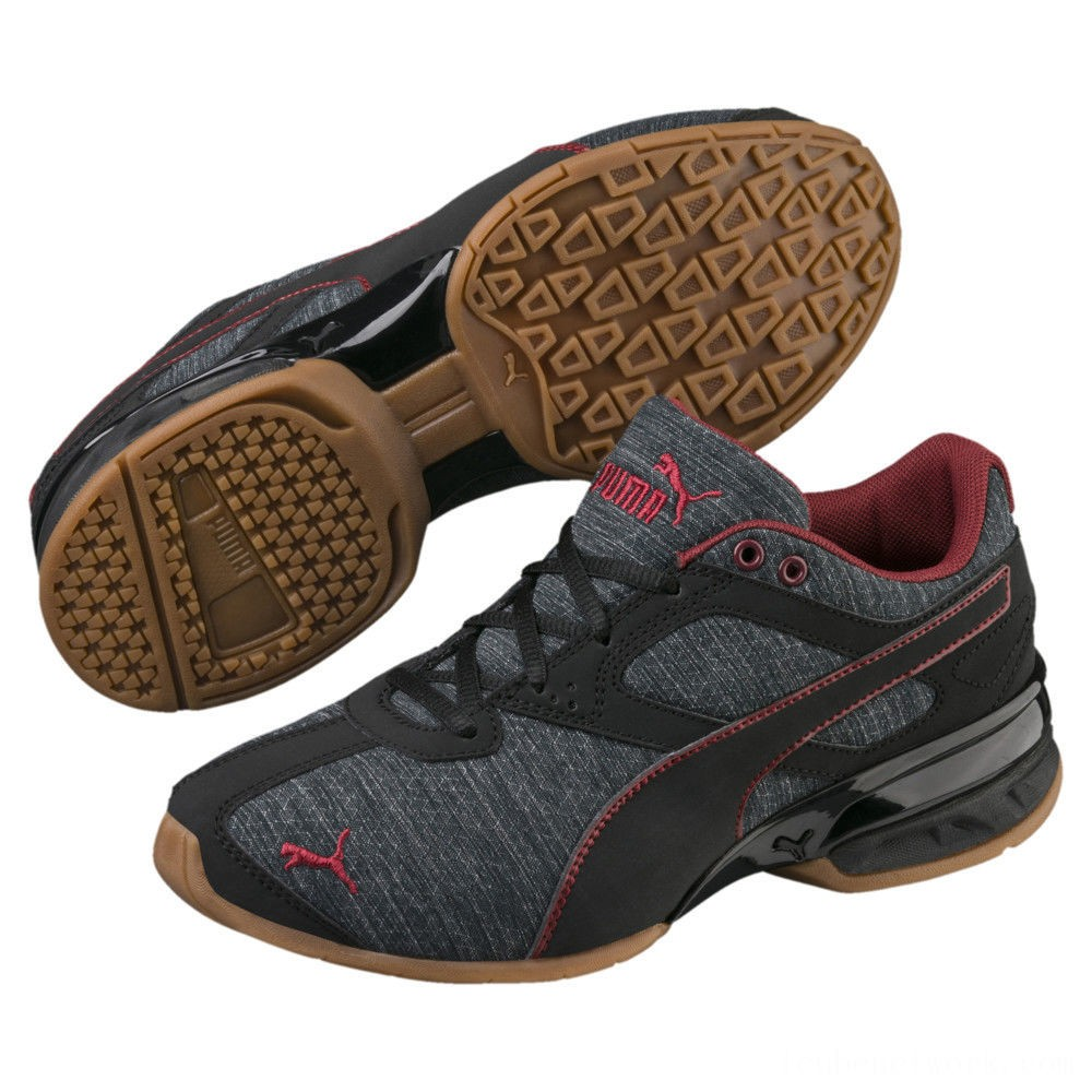 Puma Tazon 6 Heather Rip Sneakers PSIron Gate-Black-Pomegranate Outlet Sale