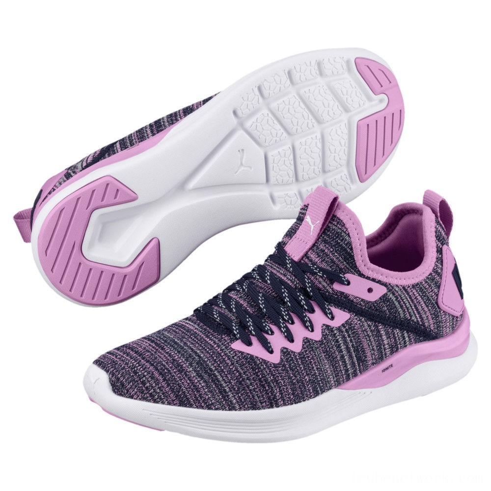 Black Friday 2020 Puma IGNITE Flash evoKNIT Sneakers JROrchid-Peacoat Outlet Sale