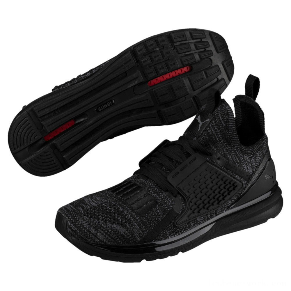 Black Friday 2020 Puma IGNITE Limitless 2 evoKNIT Sneakers Black-Iron Gate Outlet Sale