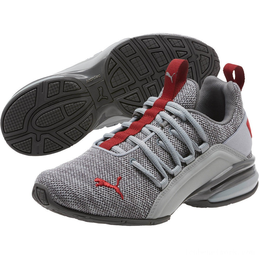 Black Friday 2020 Puma Axelion Sneakers JRQuarry-Red Dahlia Outlet Sale
