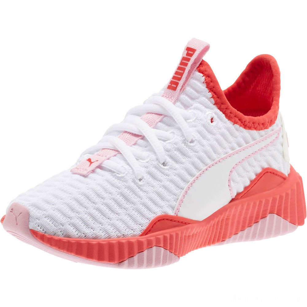 Puma Defy Sneakers PSWhite-Hibiscus -Pale Pink Outlet Sale