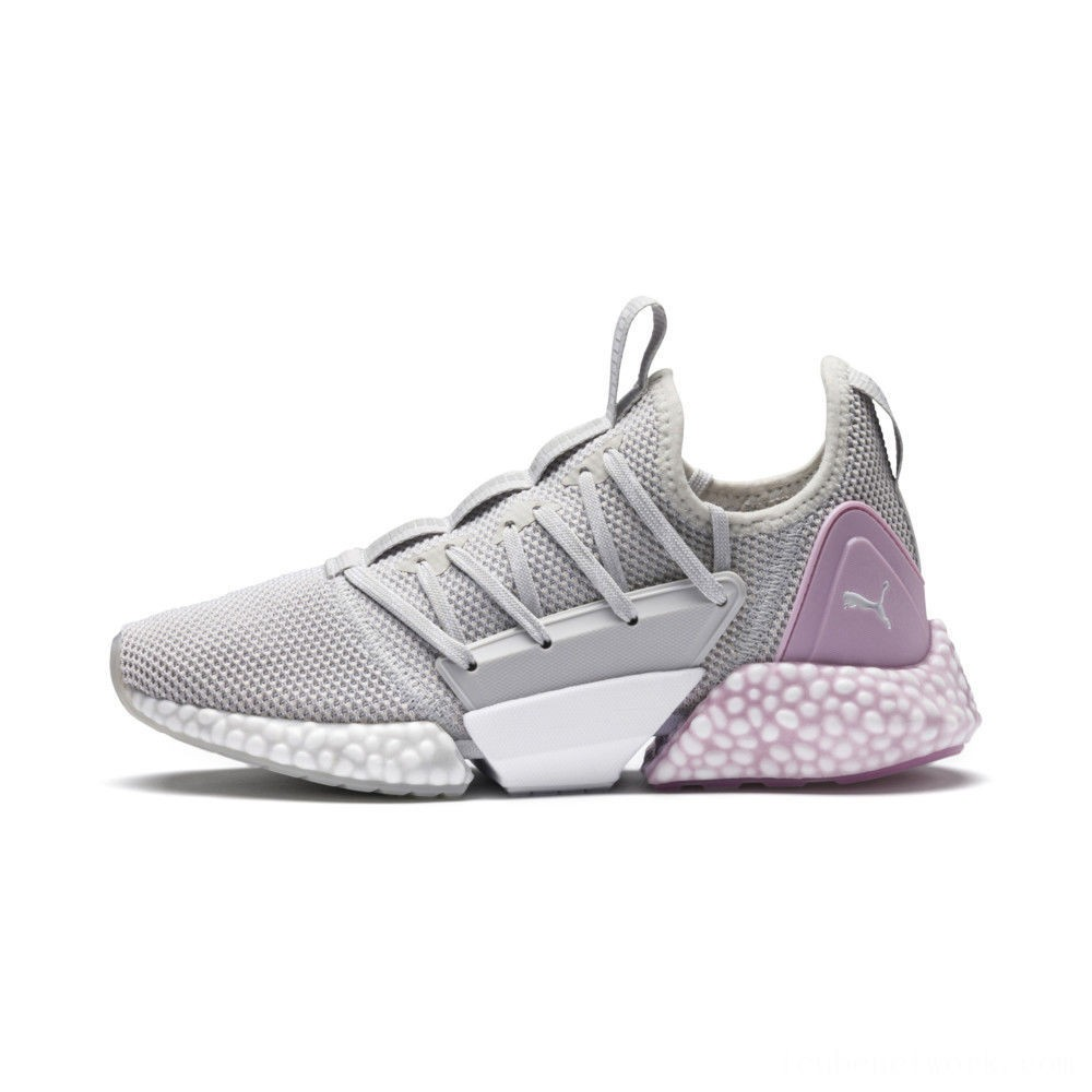 Black Friday 2020 Puma HYBRID Rocket Runner Women's Running Shoes GlacierGry-WinsmOrchid-White Outlet Sale