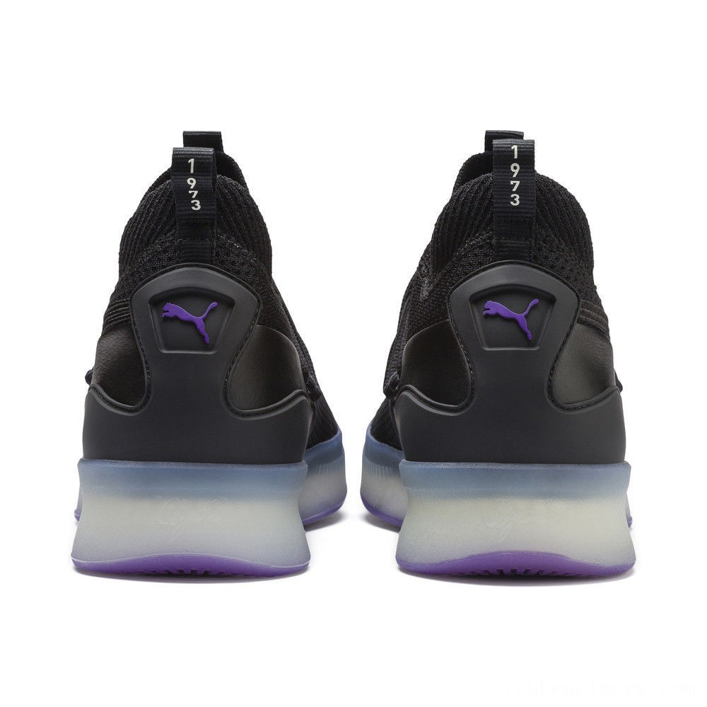 Puma Clyde Court Basketball Shoes Black-ELECTRIC PURPLE Outlet Sale