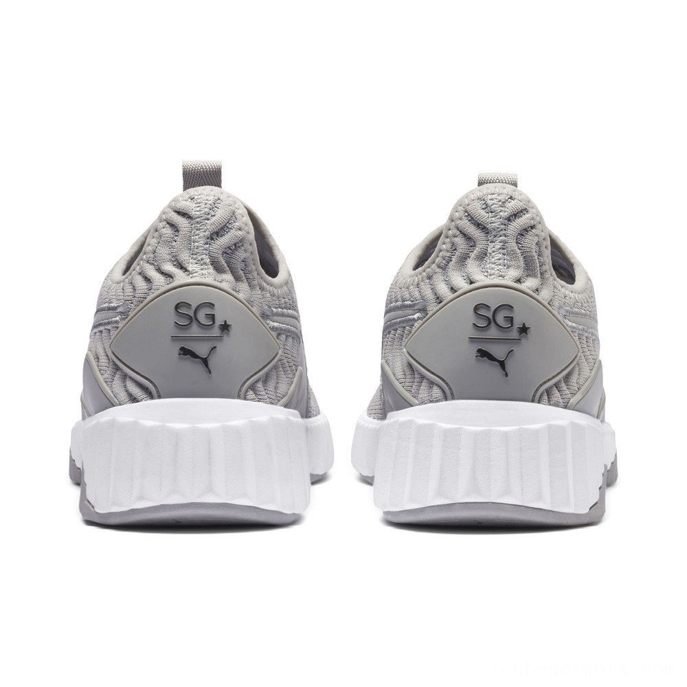 Black Friday 2020 Puma SG x PUMA Defy Women's Sneakers Gray Violet- Aged Silver Outlet Sale