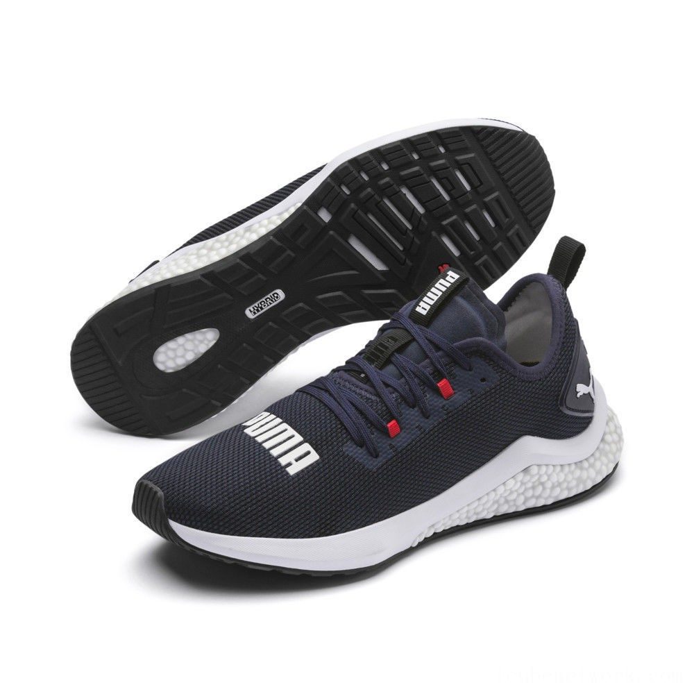 Puma HYBRID NX Men's Running Shoes Peacoat-High Risk Red-White Outlet Sale