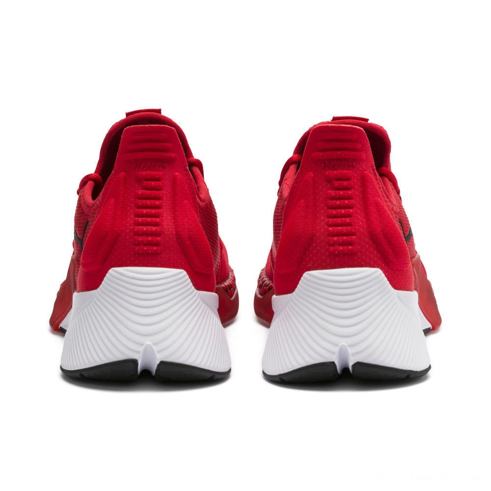Puma Xcelerator Men's Sneakers High Risk Red-White-Black Outlet Sale