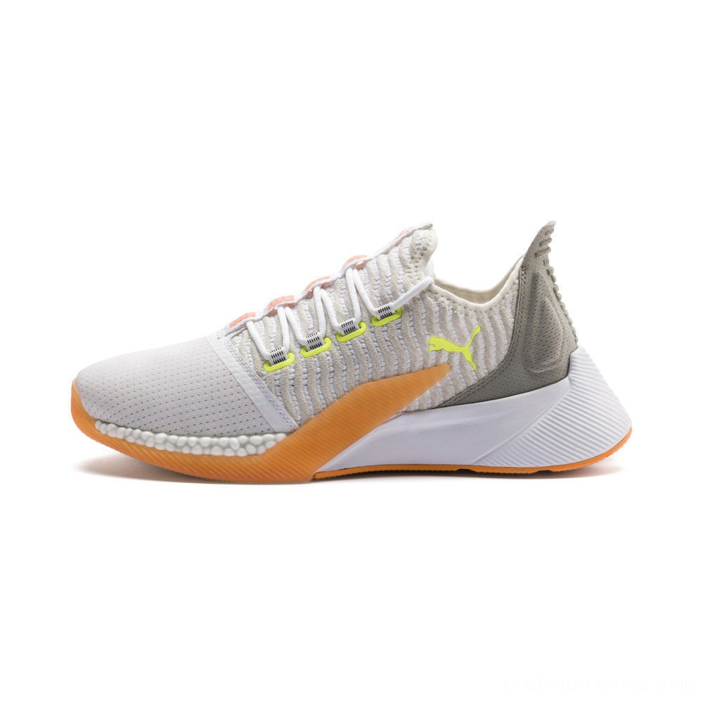 Black Friday 2020 Puma Xcelerator Daylight Running Shoes White-VGray-Orange-Yellow Outlet Sale