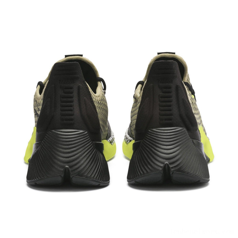 Puma Xcelerator Daylight Running Shoes Asphalt-Black-Elm-Yellow Outlet Sale