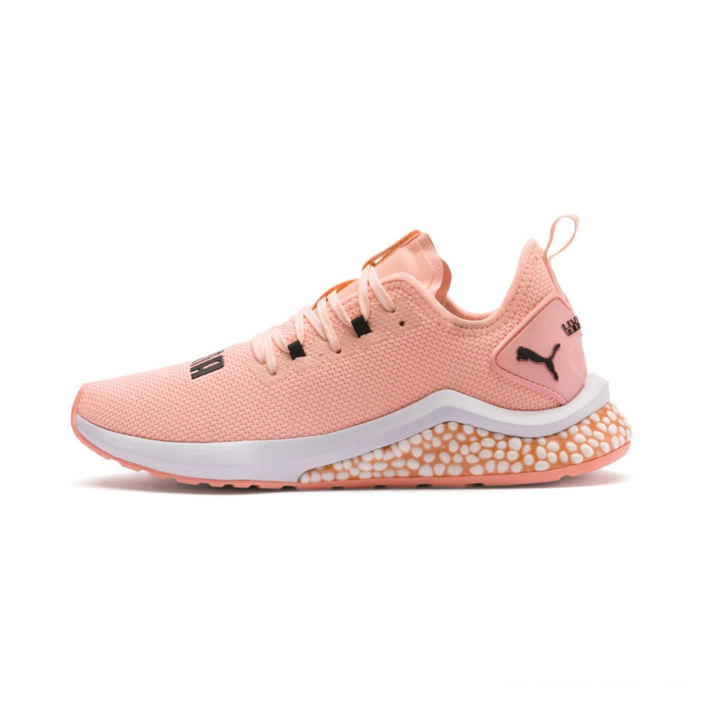Puma HYBRID NX Women's Running Shoes Bright Peach- White Outlet Sale