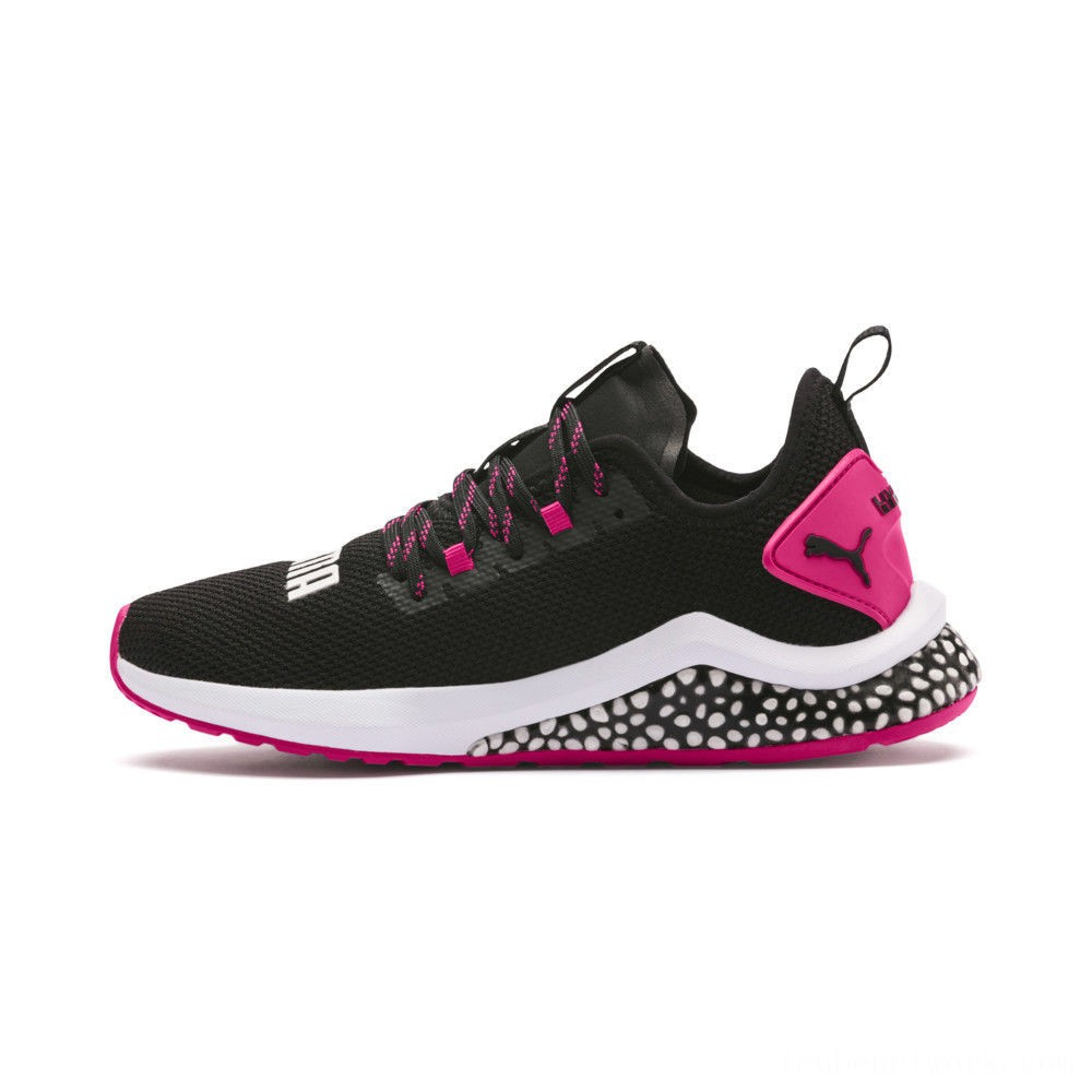Black Friday 2020 Puma HYBRID NX Women's Running Shoes Black-Fuchsia Purple Outlet Sale