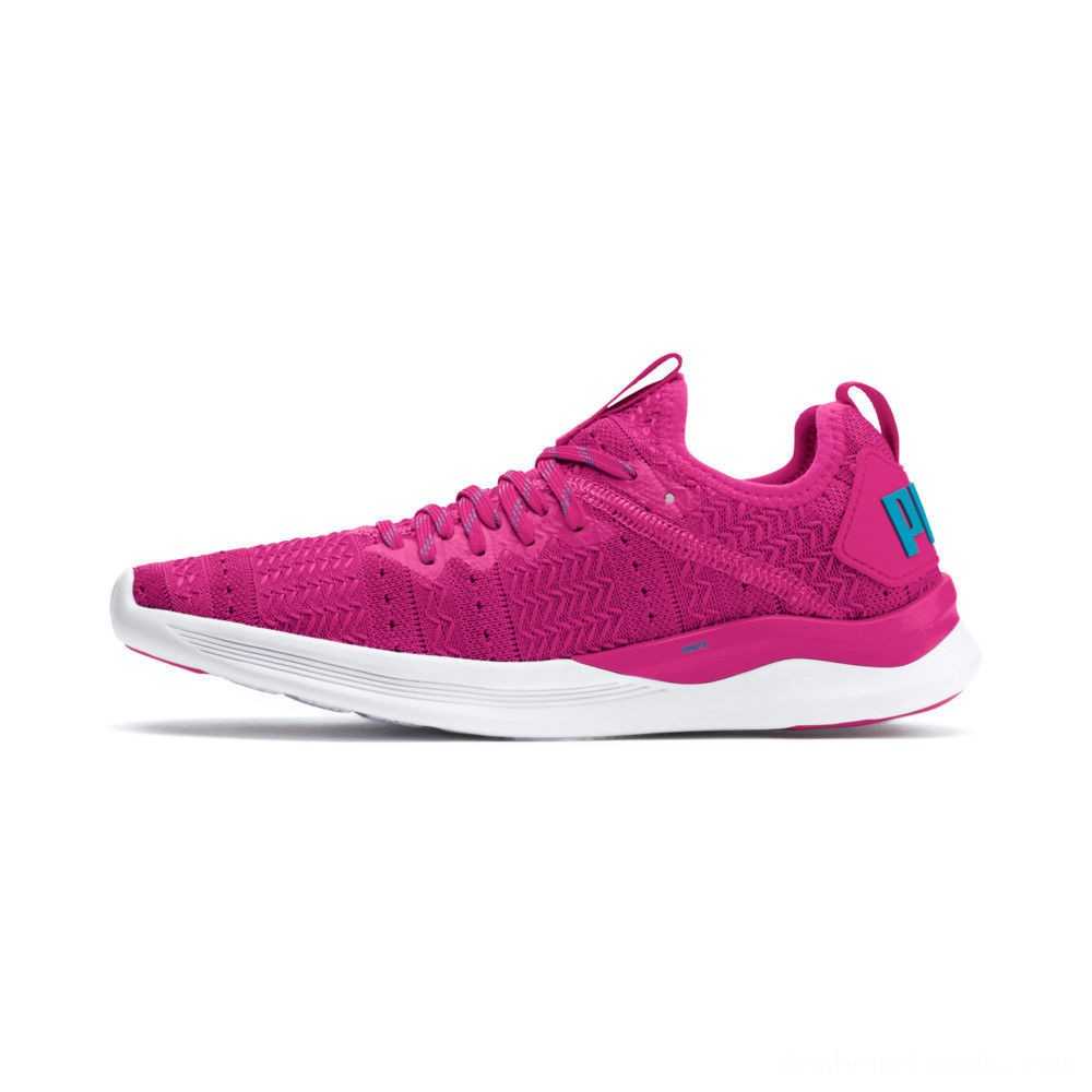 Puma IGNITE Flash Iridescent Trailblazer Women's Running Shoes Fuchsia Purple-Caribbean Sea Outlet Sale