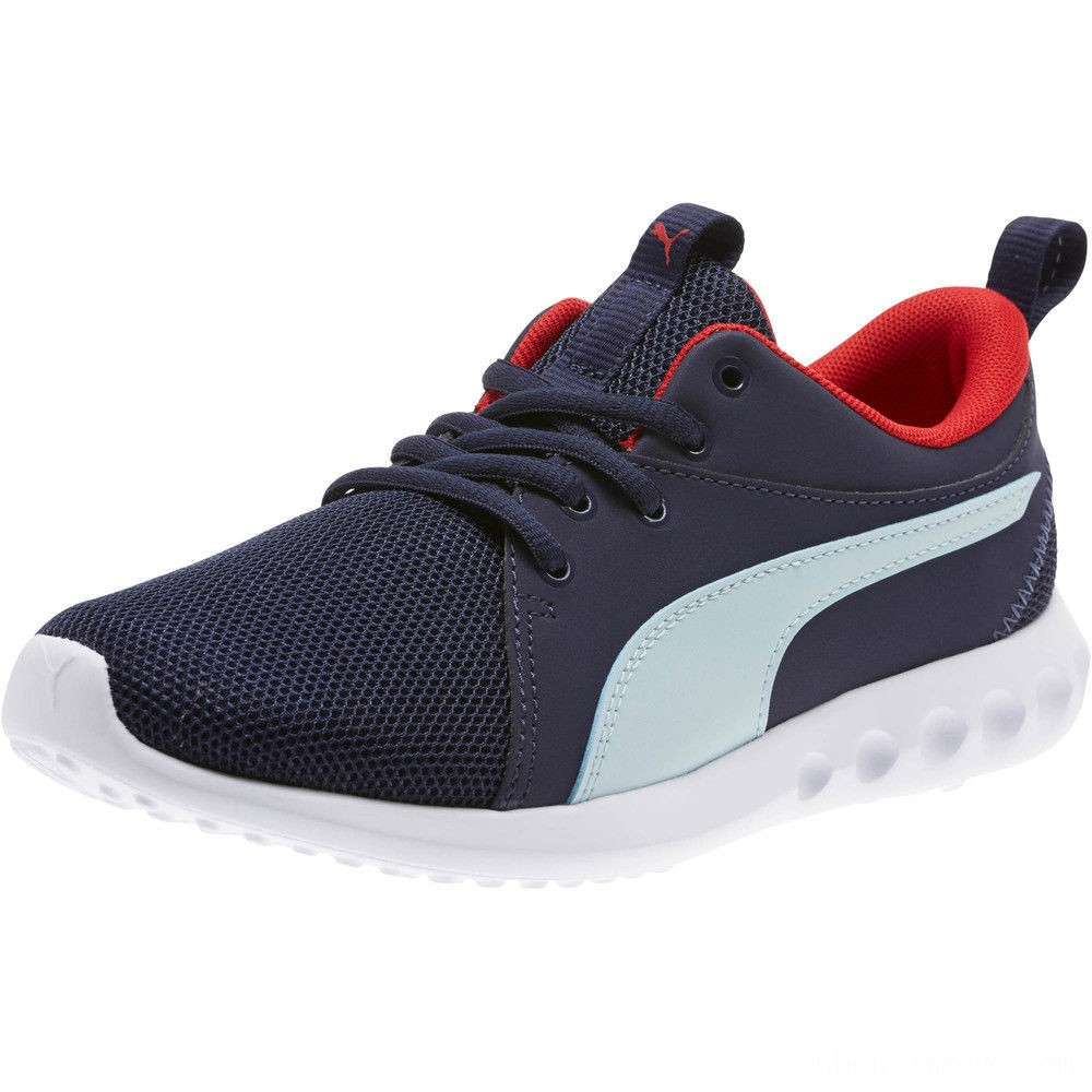 Puma Carson 2 Casual Sneakers JRPeacoat-Light Sky-Red Outlet Sale