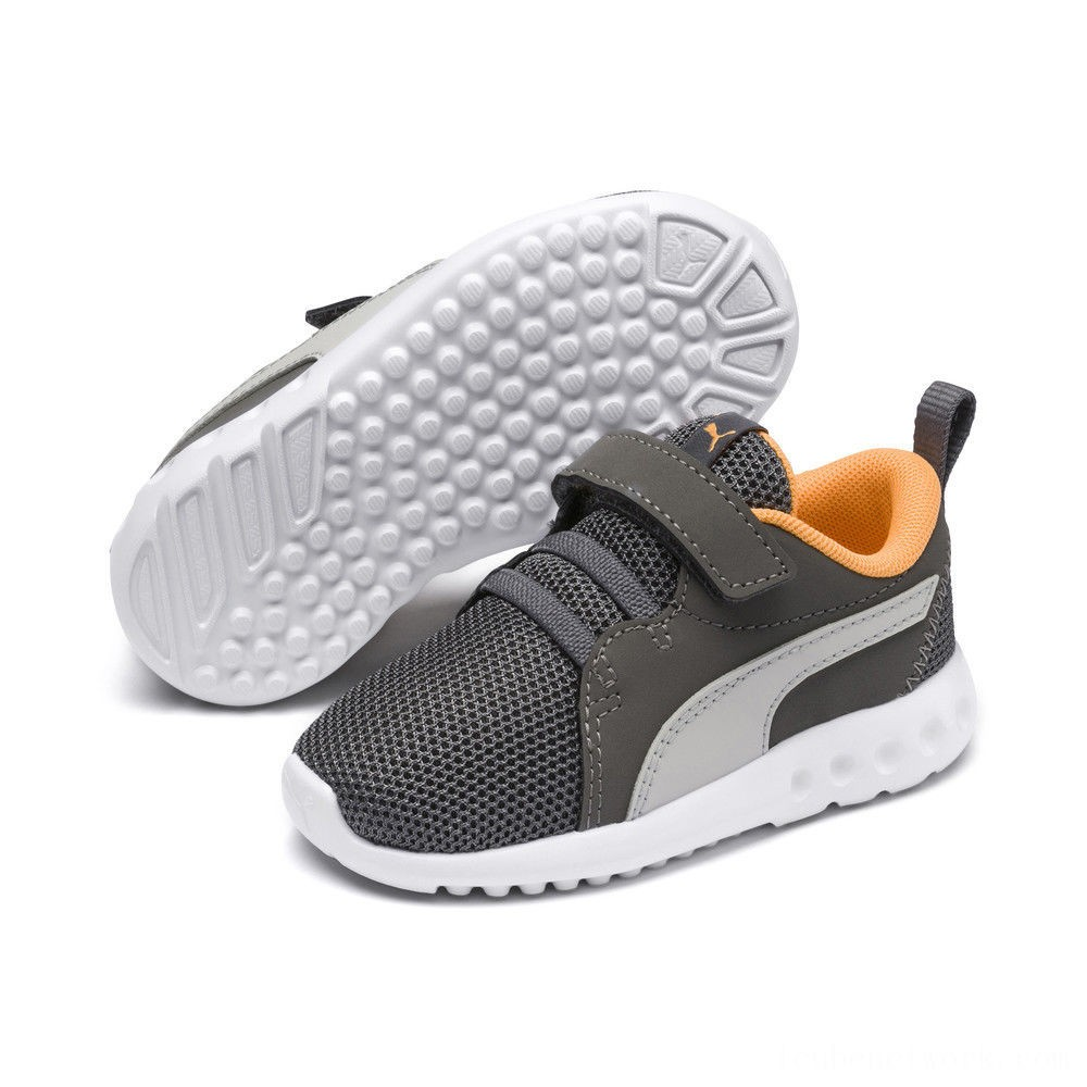 Puma Carson 2 Casual AC Sneakers PSChar Gray-Glac Gray-Orange Outlet Sale