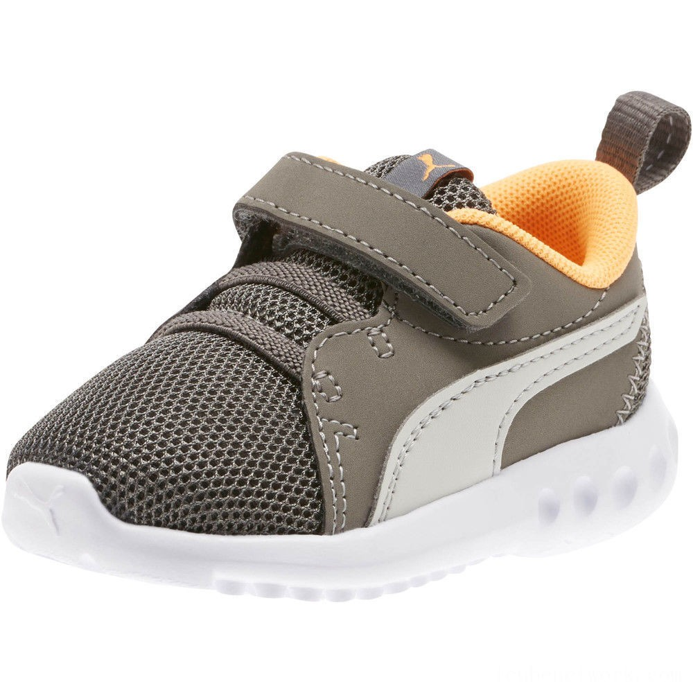 Black Friday 2020 Puma Carson 2 Casual Sneakers INFChar Gray-Glac Gray-Orange Outlet Sale