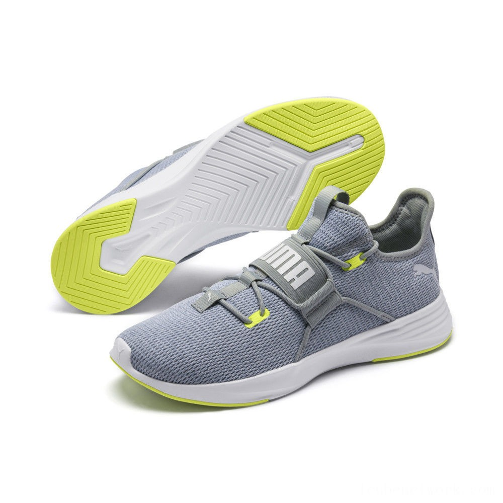 Puma Persist XT Men's Training Shoes Quarry-Fizzy Yellow-White Outlet Sale