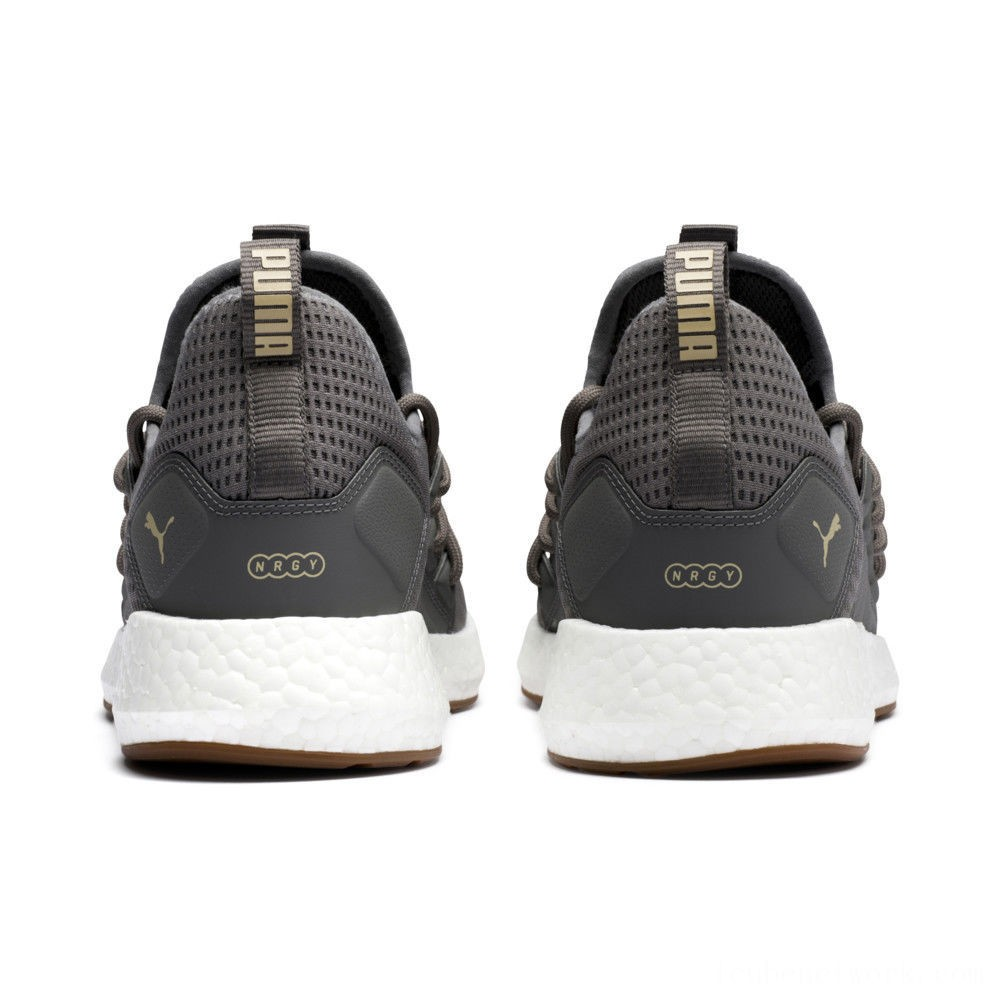 Puma NRGY Neko Future Men's Running Shoes Charcoal Gray-Taos Taupe Outlet Sale