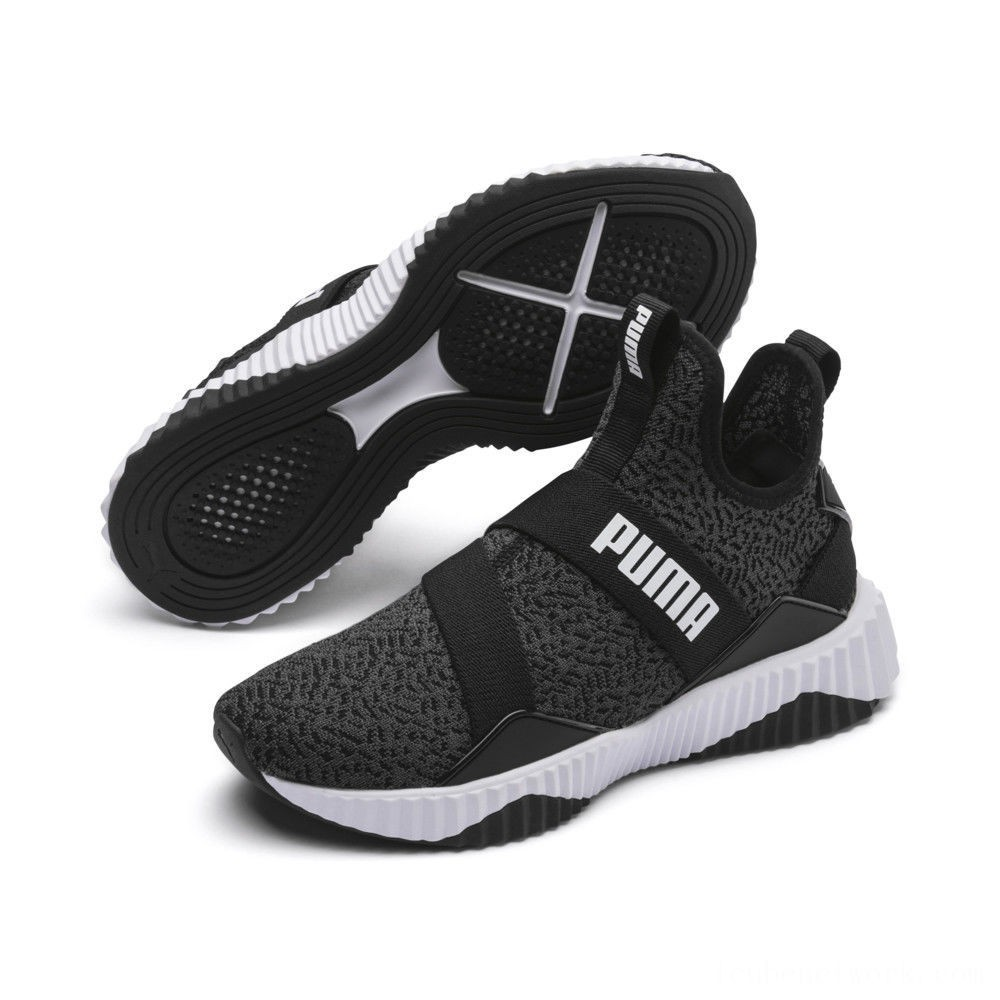 Black Friday 2020 Puma Defy Mid Animal Women's Training Shoes Black- White Outlet Sale
