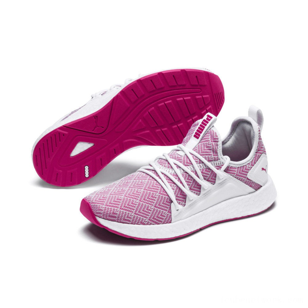 Black Friday 2020 Puma NRGY Neko Stellar Women's Running Shoes White-Fuchsia Purple Outlet Sale