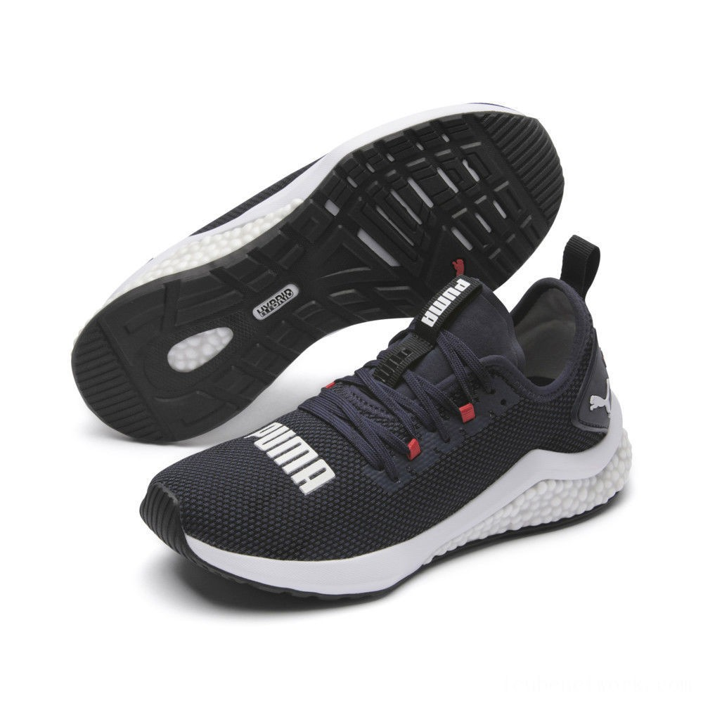 Black Friday 2020 Puma HYBRID NX Running Shoes JRPeacoat-High Risk Red-White Outlet Sale