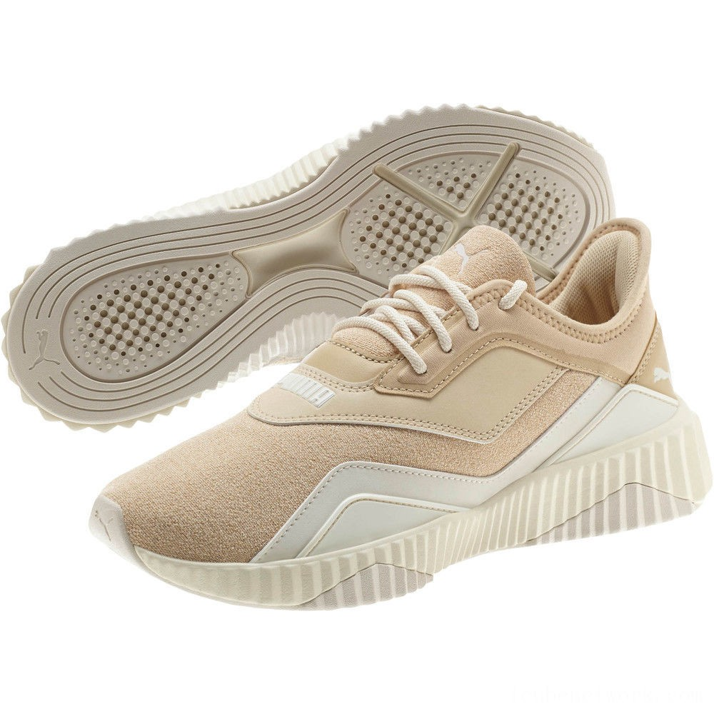 Black Friday 2020 Puma DEFY Stitched Z Women's Sneakers Pebble-Whisper White Outlet Sale
