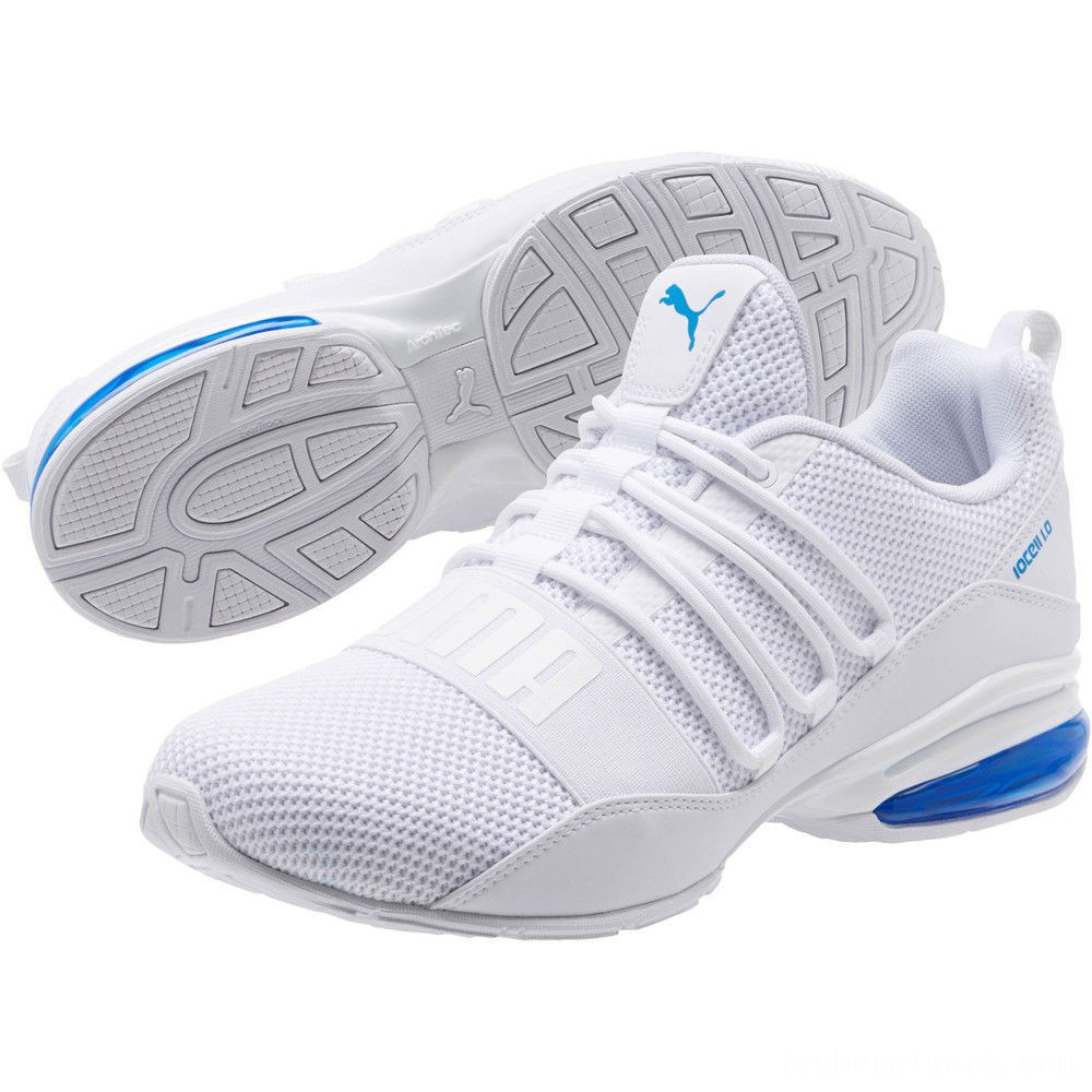 Black Friday 2020 Puma CELL Regulate Woven Men's Running Shoes White-Indigo Bunting Outlet Sale