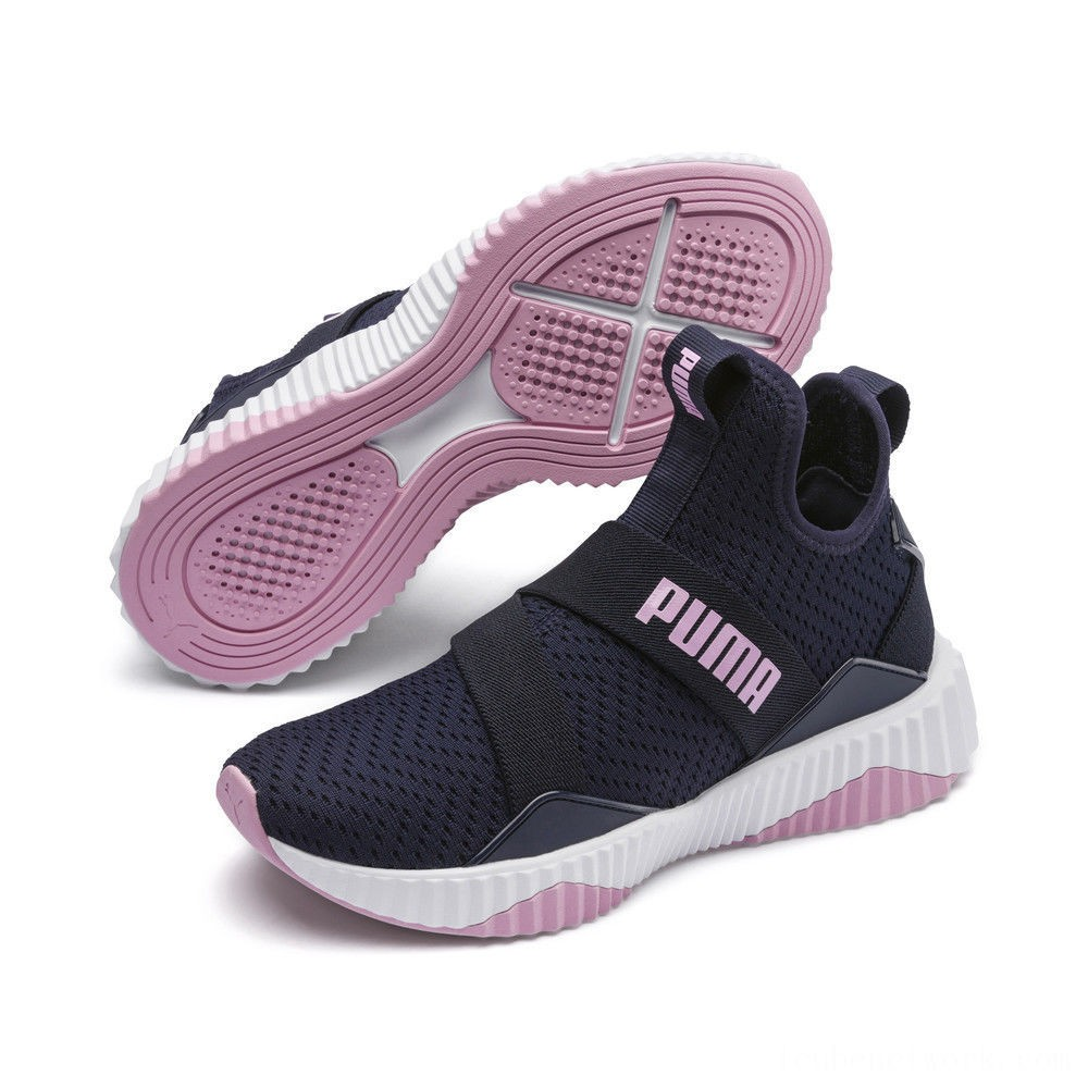 Black Friday 2020 Puma Defy Mid Core Women's Training Shoes Peacoat-Pale Pink Outlet Sale