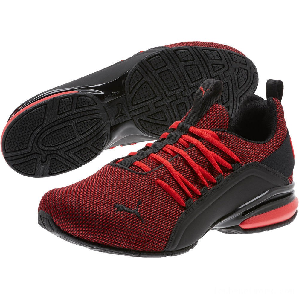 Black Friday 2020 Puma Axelion Mesh WideHigh Risk Red- Black Outlet Sale