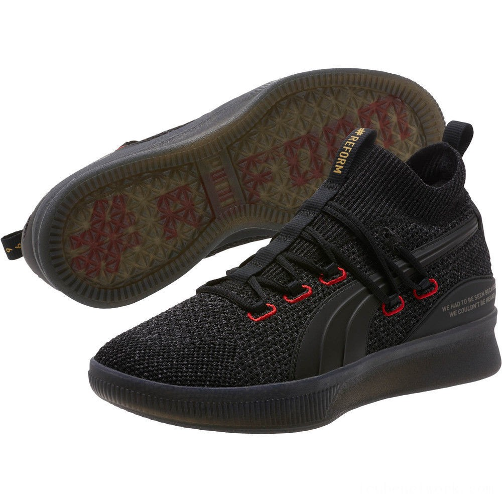 Puma Clyde Court Reform Basketball Shoes Black Outlet Sale