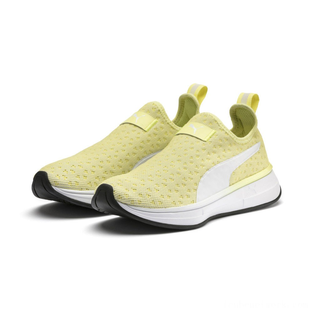 Black Friday 2020 Puma SG Slip-on Bright Women's Training Shoes YELLOW- White- Black Outlet Sale