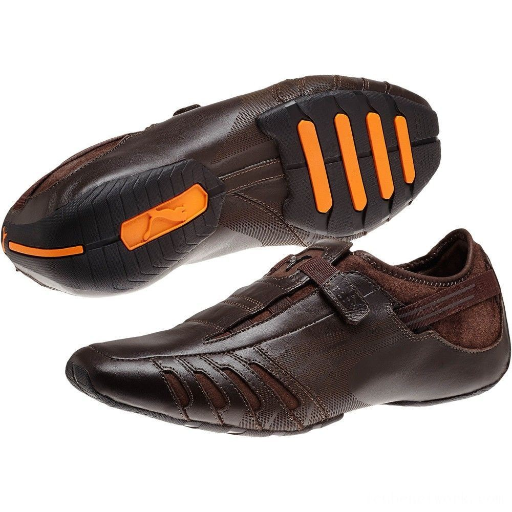 Puma Vedano Men's Shoes coffee-coffee-golden poppy Outlet Sale