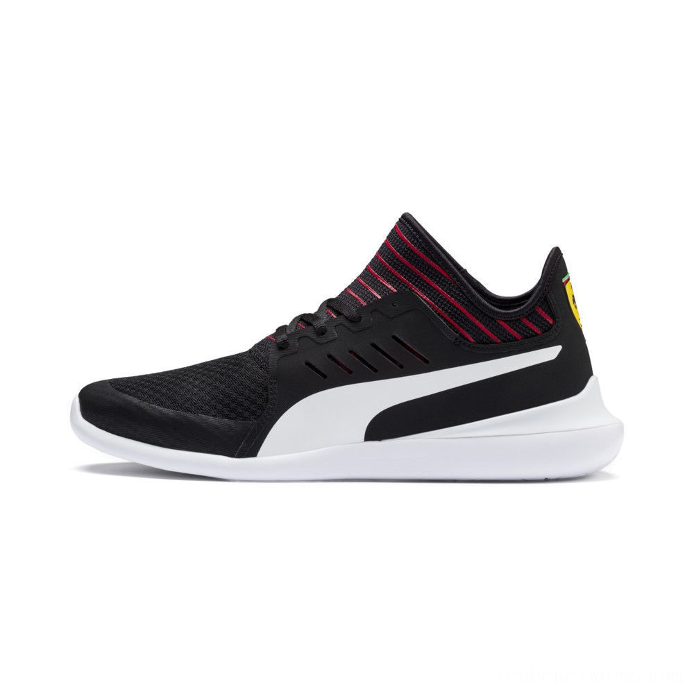 Black Friday 2020 Puma Scuderia Ferrari Evo Cat Mace Sneakers Black- White Outlet Sale