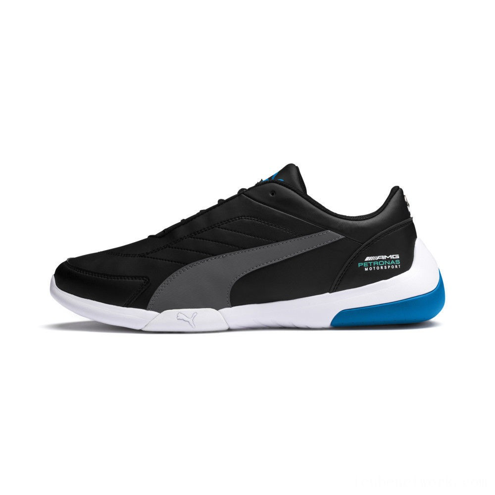 Puma Mercedes AMG Petronas Kart Cat III Sneakers Black-Dark Shadow-Indigo Outlet Sale