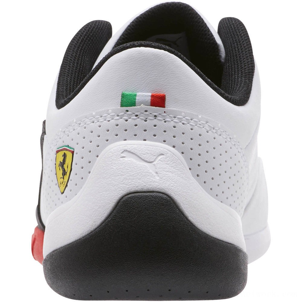 Puma Scuderia Ferrari Kart Cat III JR White- Black Outlet Sale